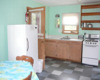 Cabin 1 - 6 Kitchen set up